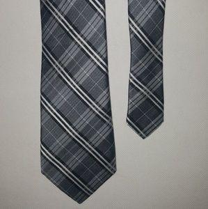 Nordstrom Ben Sherman Gray Plaid Woven Skinny Tie